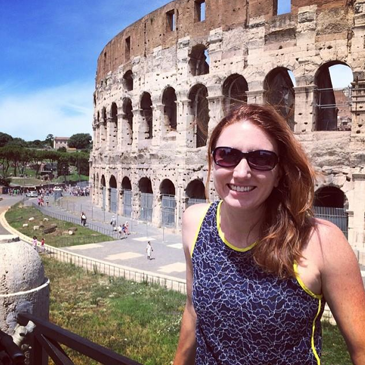 Katie at the Coliseum