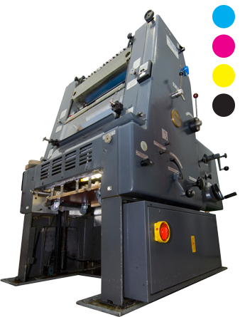 four color printing press