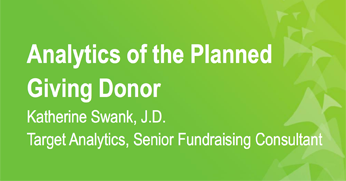 Analytics of the Planned Giving Donor