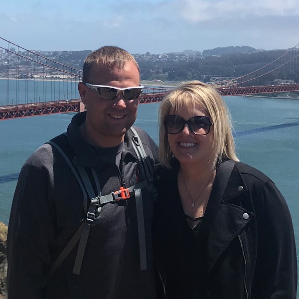 Amber and her hubby in San Francisco