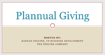 Plannual Giving